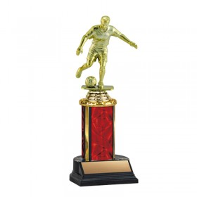 Men's Soccer Trophy TKU-130-RED-F-431