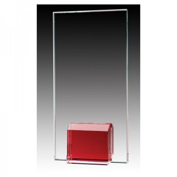 Red Glass Trophy GL1801A-RD