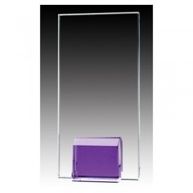 Purple Glass Trophy GL1802A-PU