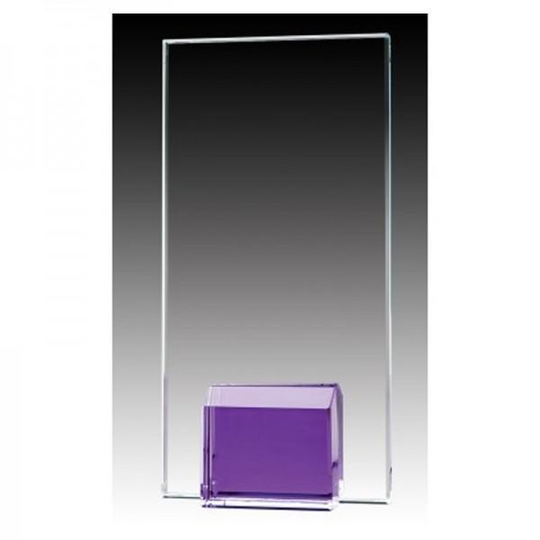 Purple Glass Trophy GL1802A-PU