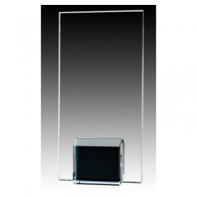 Black Glass Trophy GL1806A-BK