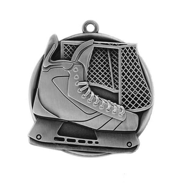 Silver Hockey Medal 2 1/4 in MS43200AS