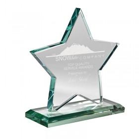 Trophée Étoile Verre Jade GL-13701