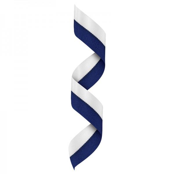 White-Blue Neck Ribbon RBV122