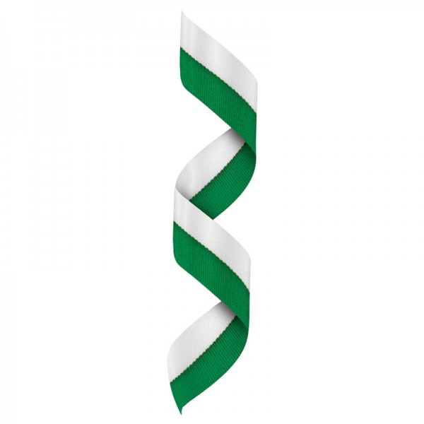 White-Green Neck Ribbon RBV125