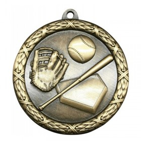 Médaille Or Baseball 2 1/2 po MST402G