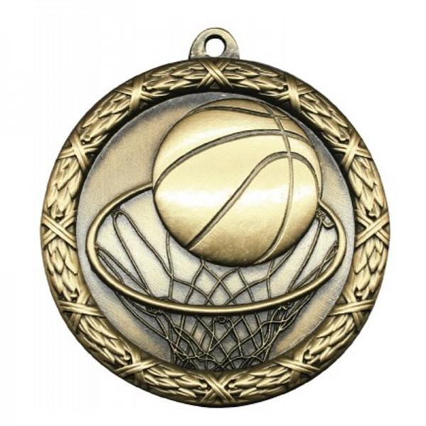 Médaille Or Basketball 2 1/2 po MST403G