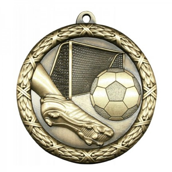 Médaille Or Soccer or 2 1/2 po MST413G