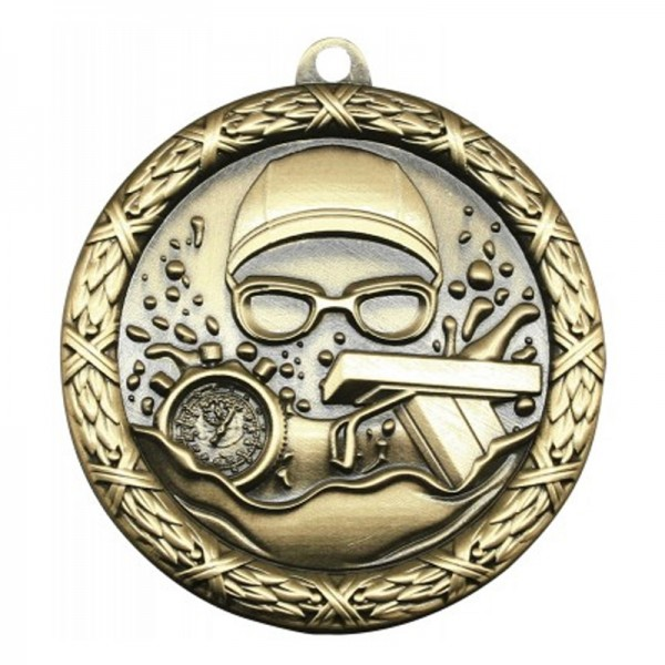Médaille or Natation 2 1/2 po MST414G