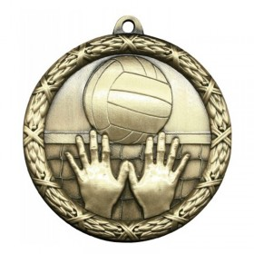 Médaille Or Volleyball 2 1/2 po MST417G