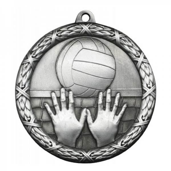 Médaille Argent Volleyball 2 1/2 po MST417S