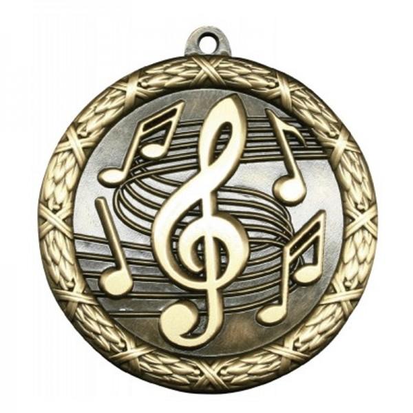 Médaille Or Musique 2 1/2 po MST430G