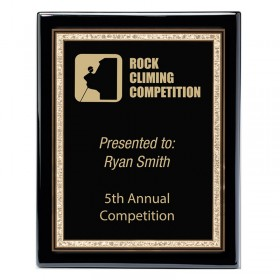 Recognition Plaque PPF560-BLACK-GOLD