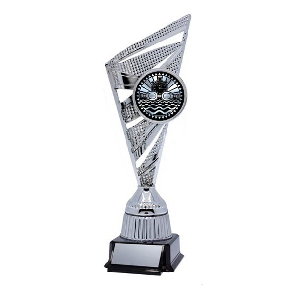Swimming silver Trophy TRF-3810