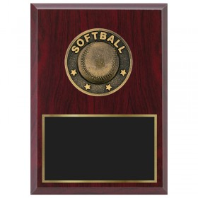 Softball Plaque 1870A-XF0026