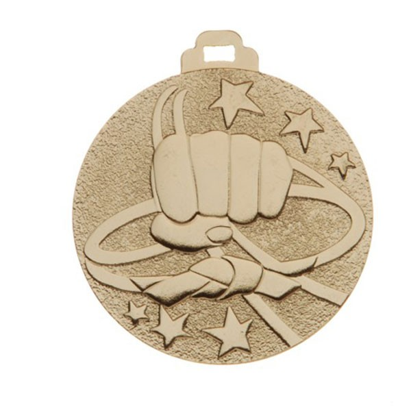 Gold Martial Arts Medals 2 in 510-342-1