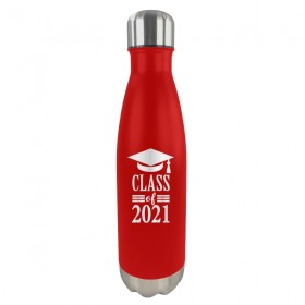 Custom Red Stainless Steel Water Bottle BTL02