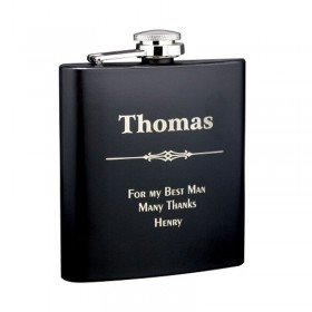 6 oz - Black Alcohol Flask GFL356