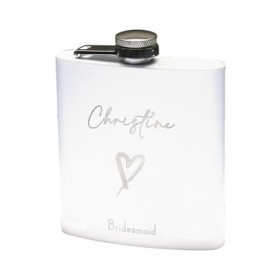 6 oz - White Alcohol Flask GFL350
