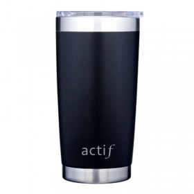 20 oz - Custom Black Thermal Tumbler DB203K