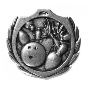 Médaille Argent Bowling 2 1/4 po BMD04AS
