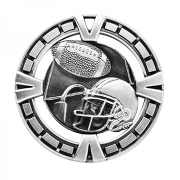 Football Silver Medal 2 1/2 in MSP406S