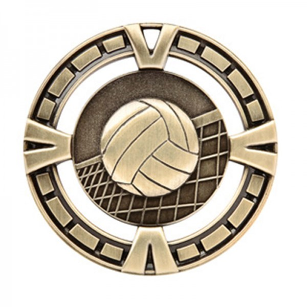 Médaille Or Volleyball 2 1/2 po MSP417G
