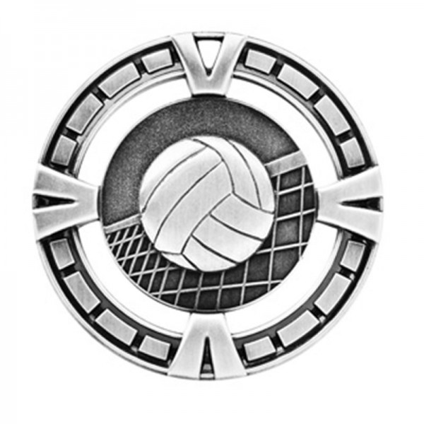 Volleyball Silver Medal 2 1/2 in MSP417S