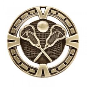 Médaille Or Lacrosse 2 1/2 po MSP428G