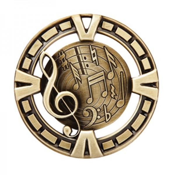 Médaille Or Musique 2 1/2 po MSP430G