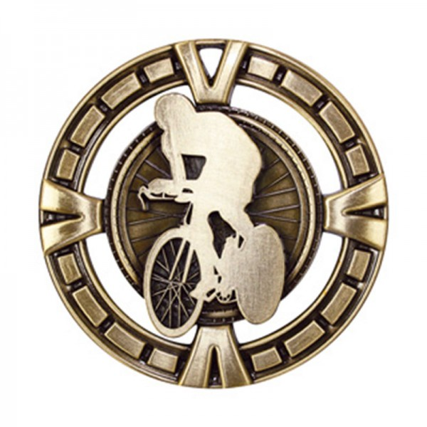 Médaille Or Cyclisme 2 1/2 po MSP446G