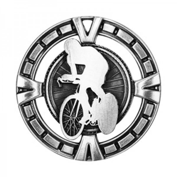 Cycling Silver Medal 2 1/2 in MSP446S