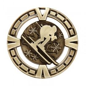 Médaille Or Ski Alpin 2 1/2 po MSP482G