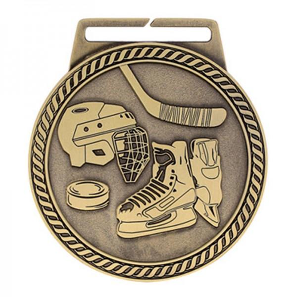 Médaille Or Hockey 3 po MSJ810G
