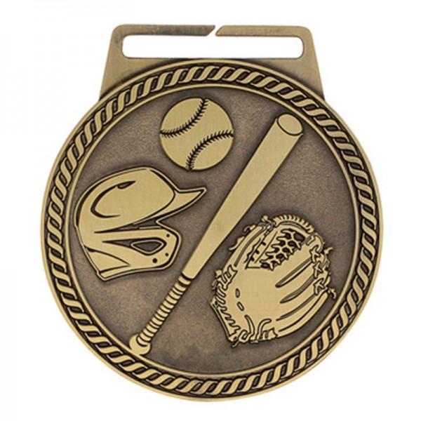 Médaille Or Baseball 3 po MSJ802G