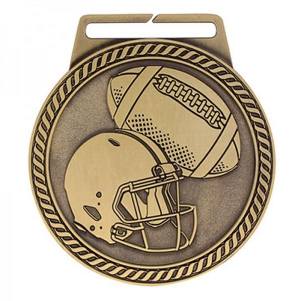 Médaille Or Football 3 po MSJ806G