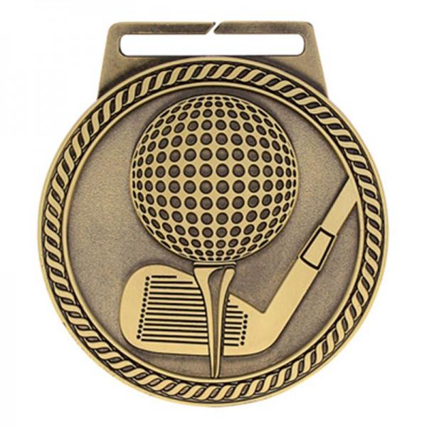 Médaille Or Golf 3 po MSJ807G