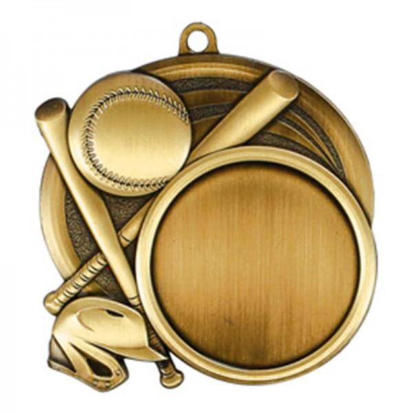 Médaille Or Baseball 2 1/2 po MSI-2502G