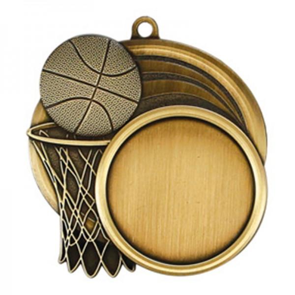 Médaille Or Basketball 2 1/2 po MSI-2503G