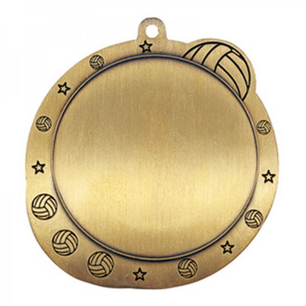 Volleyball Medal 2 1/2 po MSI-2517-BACK
