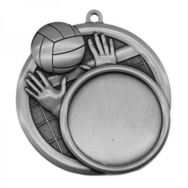Médaille Argent Volleyball 2 1/2 po MSI-2517S