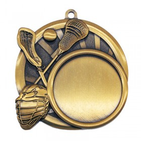 Médaille Or Lacrosse 2 1/2 po MSI-2528G