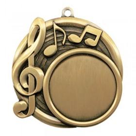 Médaille Or Musique 2 1/2 po MSI-2530G