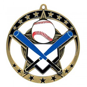 Médaille Or Baseball 2 3/4 po MSE632G