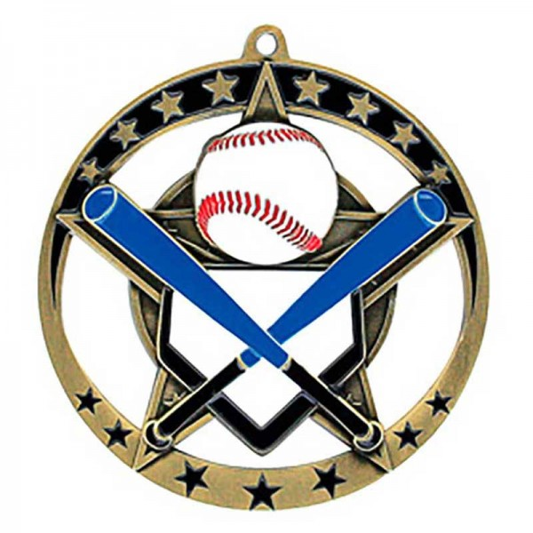 Baseball Gold Medal 2 3/4 in MSE632G