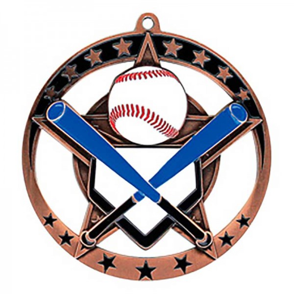 Baseball Bronze Medal 2 3/4 in MSE632Z