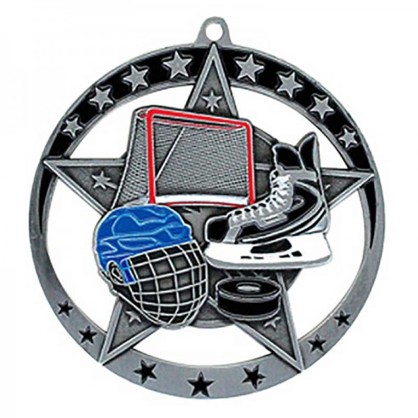 Médaille Argent Hockey 2 3/4 po MSE631S