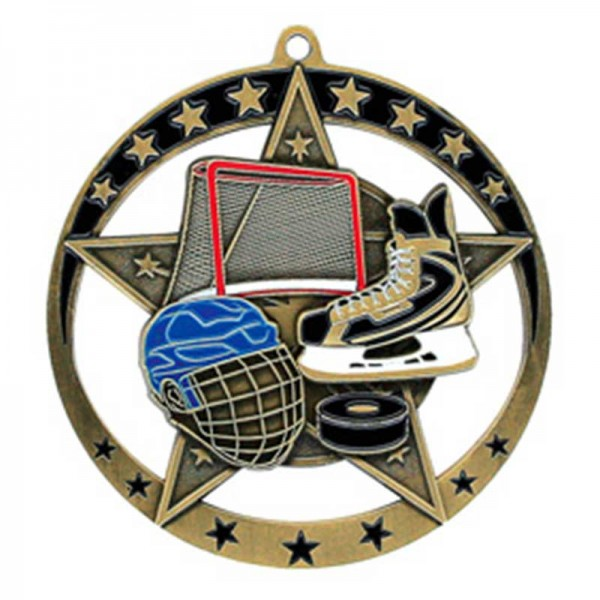 Médaille Or Hockey 2 3/4 po MSE631G