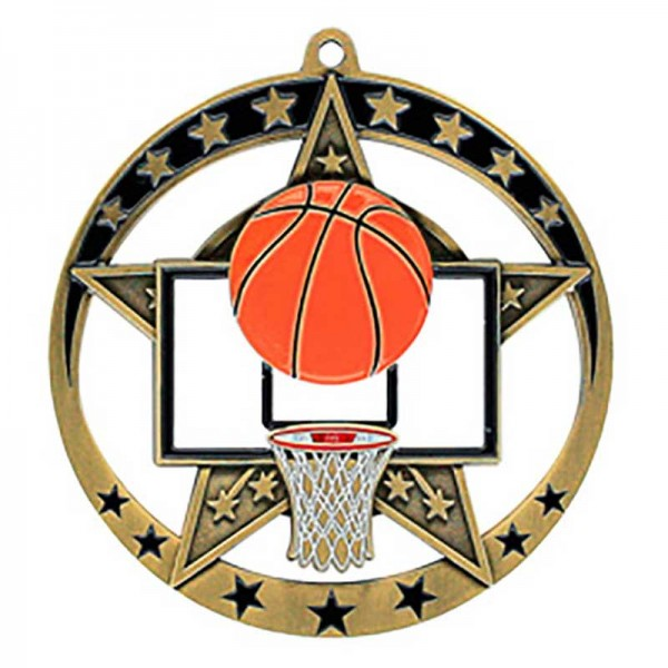 Médaille Or Basketball 2 3/4 po MSE634G