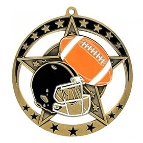 Football Gold Medal 2 3/4 in MSE637G